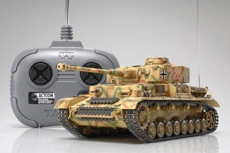 Tamiya #48206 – Tamiya 1/35 RC German Pz. IV Ausf.J w/4ch Control Unit RC Tank Kit Set