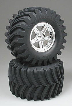 Tamiya #50954 – Tamiya Terra Crusher Front Tire/Wheel (1 Pair)