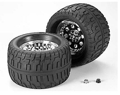 Tamiya #53498 – Tamiya RC GP Terra Crusher Road Tire – TGM-02 144/85 Tire/Wheel (2 pcs)