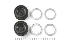 Tamiya #54116 – Tamiya RC CR01 Pentagram Wheels – 2pcs (Offset+5 – For CR-01 Chassis