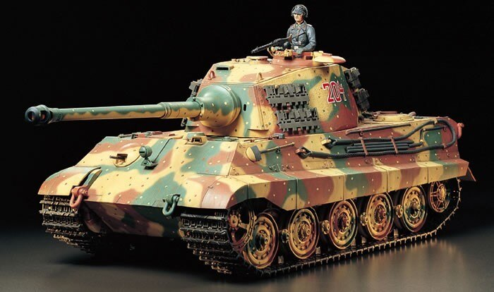 Tamiya #56018 – Tamiya 1/16 RC German King Tiger (Henschel Turret)- Full Option Kit