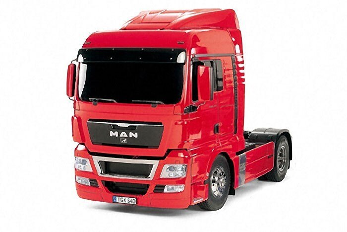 Tamiya #56332 – 1/14 RC Tractor Truck MAN TGX 18.540 4×2 XLX (Pre-Painted Red Edition)
