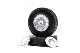 Tamiya #56512 – 1/14 R/C Tractor Trucks 20-Spoke Aluminum Wheels – Front/1pair