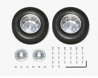Tamiya #56513 – 1/14 R/C Tractor Trucks 20-Spoke Aluminum Wheels – Outside Rear/1pair