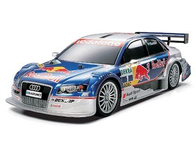 Tamiya #58355 – Tamiya 1/10 RC Audi A4 DTM 2005 Red Bull – TT01 Finished Body – TT-01 Chassis