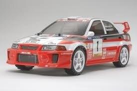 Tamiya #58461 – Tamiya 1/10 RC DF03Ra Mitsubishi Lancer Evo V WRC – DF-03 Ra Chassis