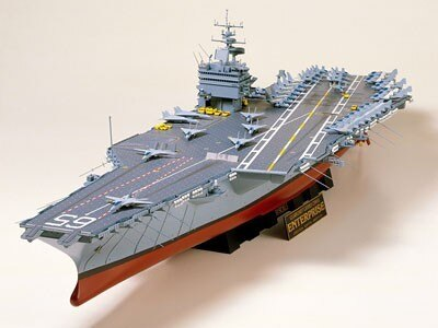 Tamiya #78007 – 1/350 U.S. Aircraft Carrier CVN 65 USN CV Enterprise (nuclear)