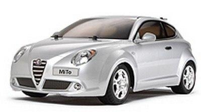 Tamiya #84279 – 1/10 RC Alfa MiTo Fin Body Parts Set (Silver)