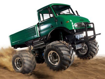 Tamiya #84319 – 1/10 RC Mercedes-Benz Unimog 406 Series U900 Wheelie (CW-01) Green