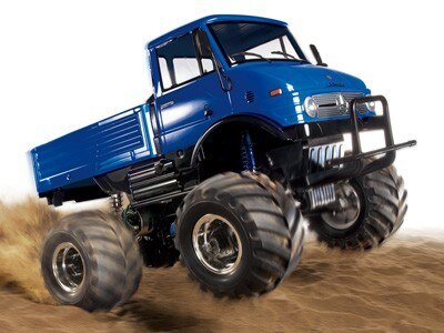 Tamiya #84320 – 1/10 RC Mercedes-Benz Unimog 406 Series U900 Wheelie (CW-01) Blue