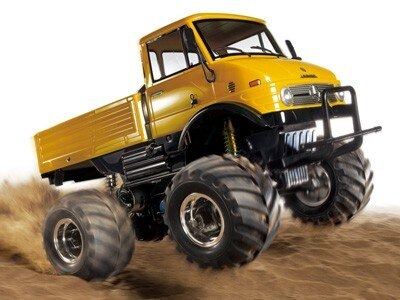Tamiya #84321 – 1/10 RC Mercedes-Benz Unimog 406 Series U900 Wheelie (CW-01) Yellow