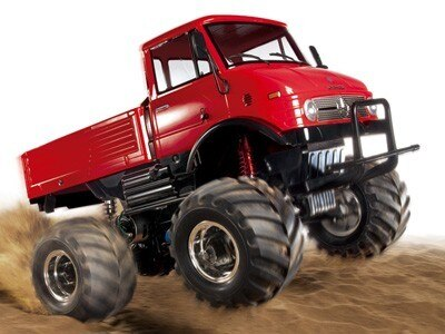 Tamiya #84322 – 1/10 RC Mercedes-Benz Unimog 406 Series U900 Wheelie (CW-01) Red