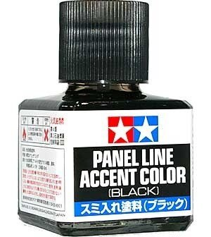 Tamiya #87131 – Panel Line Accent Color Black – 40ml