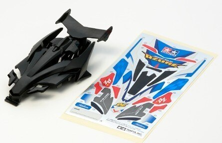 Tamiya #94957 – JR Avante Mk.III Azure Body – Black Body Set