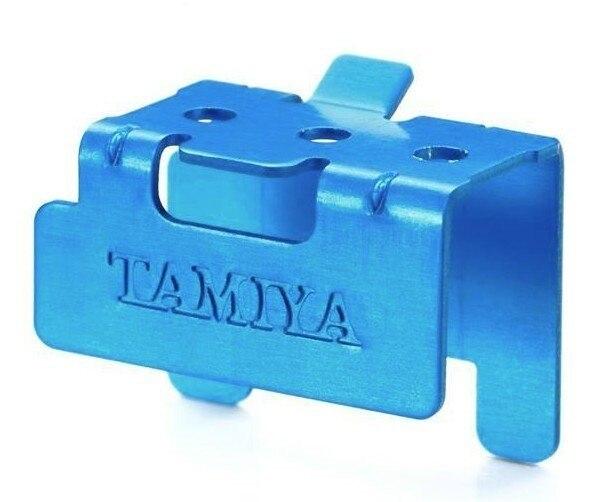 Tamiya #95428 – Aluminum Motor Support Blue Mini 4WD Station