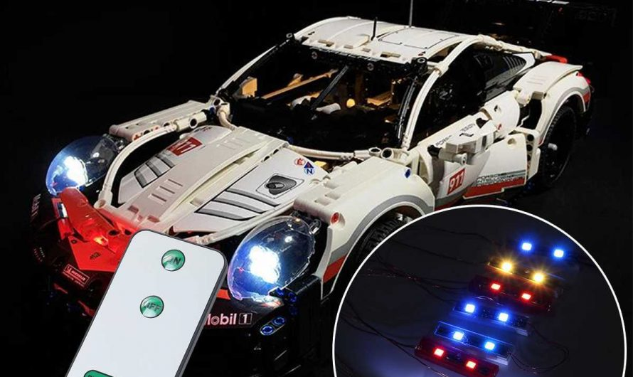 LED Lighting Kit Remote Version for 42096 Technic for Porsche for 911 for RSR (Model Not Included) with Battery