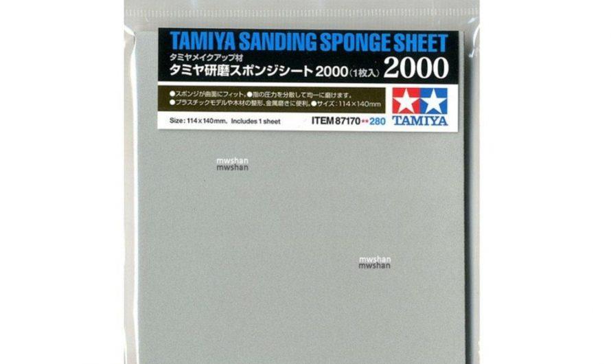 Tamiya 87170 Model Sanding Sponge Sheet P2000 Hobby Finishing Tools Accessory DIY