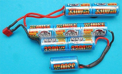G&P Airsoft 9.6v 3300mAh Battery For Marine Battery Stock (Shorty) – GP848B for Airsoft Gun