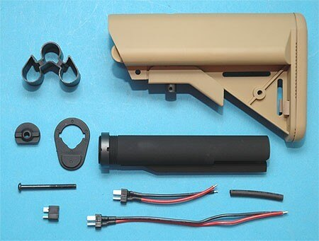 G&P 9.6V Battery Buttstock Sand For Airsoft AEG M4A1 – GP418B for Airsoft Gun