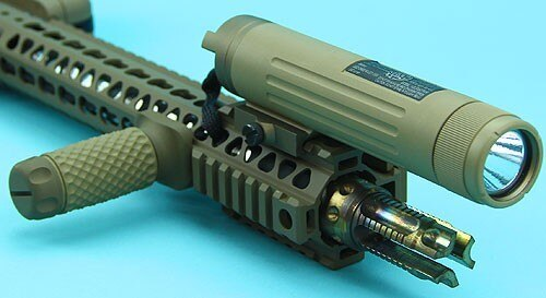 G&P AEG Power Bank with Rail 11.1v 1200mAh (20C) / External Battery with Flashlight – Sand – GP-TAL007SD