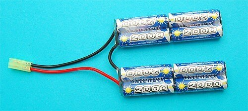 G&P Airsoft 9.6v 2000mAh V-Shape Battery – GP-BAT001 for Airsoft Gun