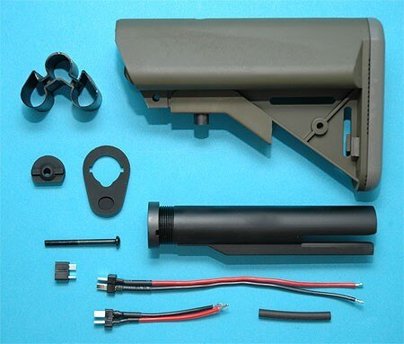 G&P Airsoft M4A1 Extended Battery Buttstock w 9.6v (OD) – GP417B for Airsoft Gun