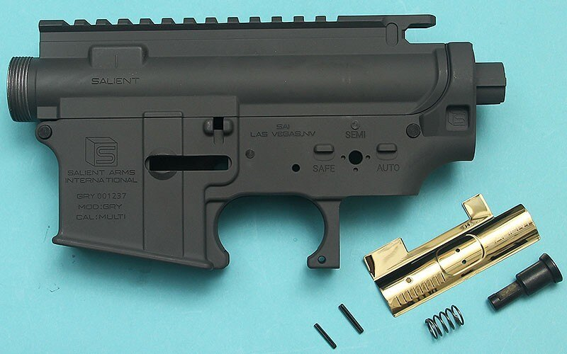 G&P Salient Arms Licensed Gen. 2 Metal Body for Tokyo Marui M4 / M 16 Series  G&P F.R.S. Series – Gray – GP-MEB026GY