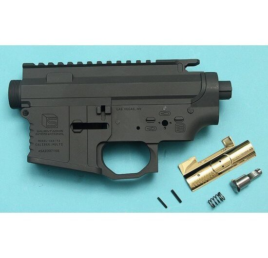 G&P Salient Arms Licensed Metal Body for Tokyo Marui M4 / M16 Series  G&P F.R.S. Series – Gray Airsoft GP-MEB021GY