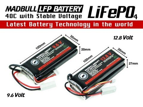 Madbull LFP 9.6v Battery – MB-LFP-9.6 for Airsoft Gun Parts