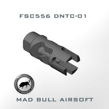 MadBull Primary Weapons Aluminum SC556 Tactical Compensator (Black / 14mm CW)  – MB-DNTC-01A for Airsoft Gun Parts