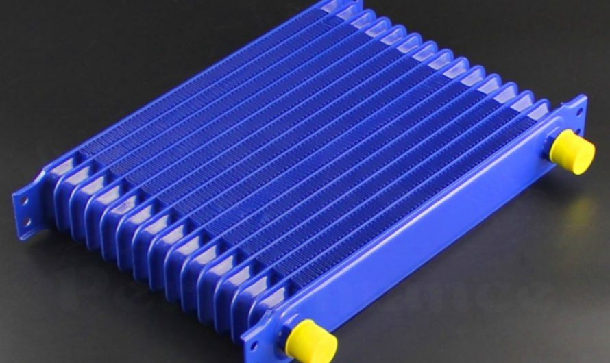 Autobahn88 Oil Cooler Tank 15 Rows AN10 300x207x50mm core – CAOC03A (Blue)